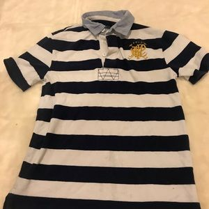 Polo Ralph Lauren Rugby Shirt With Crest Logo